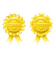 gold winner rosettes vector image