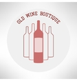 Old wine boutique shop icon in modern flat design vector image