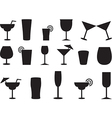 Juice and cocktail glasses vector image vector image