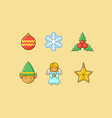Christmas Icons 3 Flatten vector image