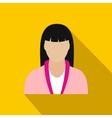 Spa massage therapist flat icon vector image