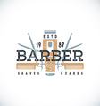 color barber shop sign template vector image