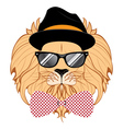 Lion Hipster vector image