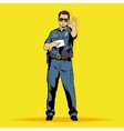 Police officer comics character vector image