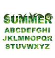 summer green alphabet capital tropical vector image