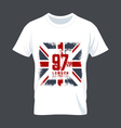 t shirt example vector image