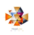 Colorful triangles on white background vector image