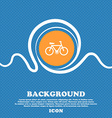 bicycle icon sign Blue and white abstract vector image