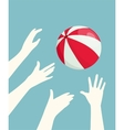 Hands Playing Ball vector image vector image