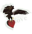eagle heart vector image