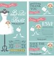 Bridal shower invitationBridal dressbouquet vector image