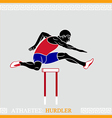 Athlete Hurdler vector image
