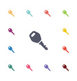 car key flat icons set vector image
