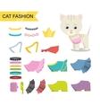 Cat fashion icon vector image