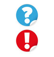 exclamation and question mark vector image