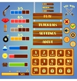 Game interface design vector image