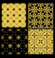 golden pattern set vector image