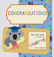 Graduation Congratulation Invitation Template with vector image