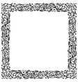 Ornamental frame hand drawing for your design vector image