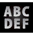 paper alphabet part 1 vector image