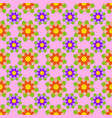 seamless pattern of red and purple flowers vector image