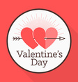 St Valentines day greeting card in flat style A vector image