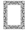 Vintage frame with floral elements vector image