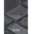 isometric stationery office background vector image