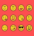 Fun Emoticon Set vector image