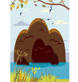 summer island landscape vector image