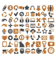72 web icons vector image