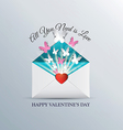 Valentine envelope vector image vector image