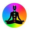 Man Meditation vector image