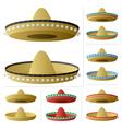 sombrero vector image vector image