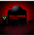 Halloween party tombstone background vector image
