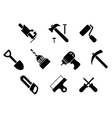 Hand tools and instruments icons vector image