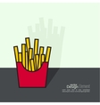 French Fries in paper Box vector image