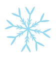 blue snowflake icon vector image