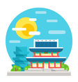 Changdeokgung palace flat design landmark vector image