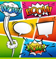 comic sound effect speech bubble pop art cartoon vector image