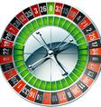 Detailed casino roulette wheel vector image