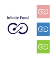 Food and infinity iconFork and spoon sign vector image