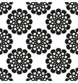 Geometric floral seamless background vector image