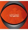 Orange black background vector image