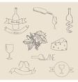 Wine icon label vector image