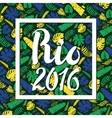 Rio 2016Tropical leaves backgroundColored vector image