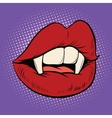 Sexy Halloween vampire mouth female vector image