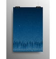 Poster Falling Snow Forest Christmas Trees vector image