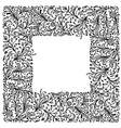 Ornamental frame hand drawing for your design vector image vector image
