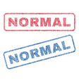normal textile stamps vector image